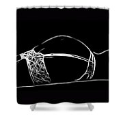 Black And White Pleasure Shower Curtain