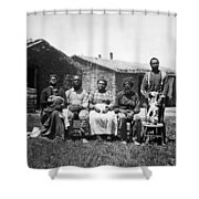 Black Homesteaders Shower Curtain