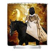 Black Russian Terrier Art Canvas Print Shower Curtain