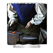 Blacksmith At The Old Fort Shower Curtain