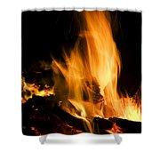 Blazing Campfire Shower Curtain