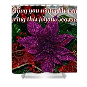 Blessings Christmas Card Shower Curtain