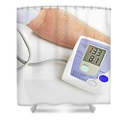 Blood Pressure Monitoring Shower Curtain