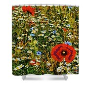 Blossoming Meadow Shower Curtain