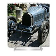 Blue Bugatti Oldtimer Shower Curtain