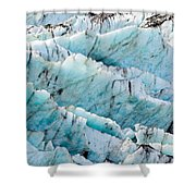 Blue Glacier Ice Background Texture Pattern Shower Curtain