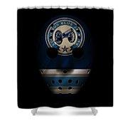 Blue Jackets Jersey Mask Shower Curtain