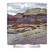 Blue Mesa Trail In Petrified Forest National Park-arizona Shower Curtain