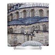 Blue Mosque 01 Shower Curtain