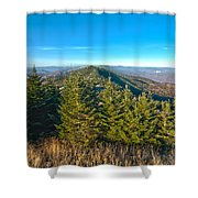 Blue Ridge Mountains North Carolina Shower Curtain