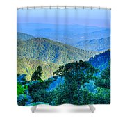 Blue Ridge Parkway National Park Sunset Scenic Mountains Summer  Shower Curtain