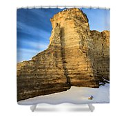 Blue Skies At Monument Rocks Shower Curtain