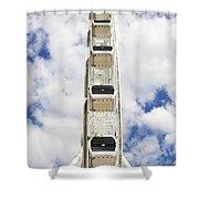 Blue Sky Wheel Shower Curtain