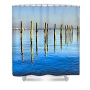 Blue Tide Shower Curtain