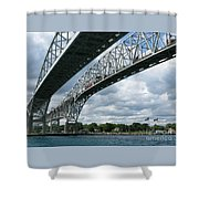 Blue Water Crossing Shower Curtain