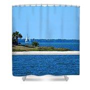 Blue Water Shower Curtain