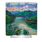 Bluestone Lake Shower Curtain