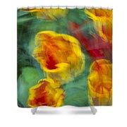 Blurred Tulips Shower Curtain