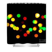 Blurry Colored Lights Shower Curtain