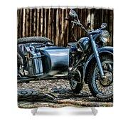 Bmw 500 Sidecar Shower Curtain