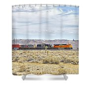 Bnsf 9112 Westbound From Boron Shower Curtain