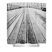 Boardwalk Of Distance Shower Curtain