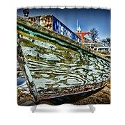 Boat Forever Dry Docked Shower Curtain