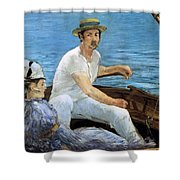 Boating Shower Curtain by Edouard Manet