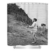 Bobby Jones At Pebble Beach Shower Curtain