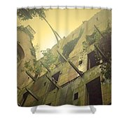 A Glowing Bodmin Jail  Shower Curtain