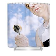 Boiled Egg Balance Shower Curtain