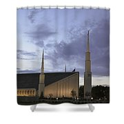 Boise - Mormon Temple Shower Curtain