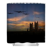 Bombers Over Lincoln  Shower Curtain
