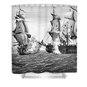 Bonhomme Richard, 1779 Shower Curtain