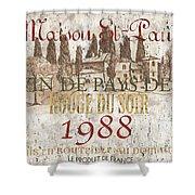 Bordeaux Blanc Label 1 Shower Curtain