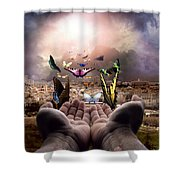 Born Again Israel Shower Curtain