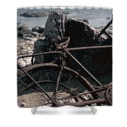 Bornholm Bicycle  Shower Curtain