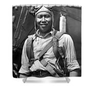 Boston Airport Chinese Aviator Shower Curtain
