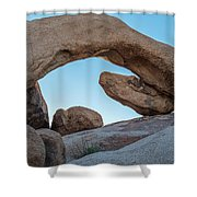 Boulders In A Desert, Joshua Tree Shower Curtain