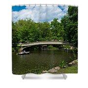 Bow Bridge Central Park Shower Curtain
