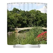 Bow Bridge Over The Lake Shower Curtain