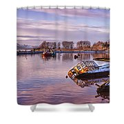 Bowling Harbour Panorama 02 Shower Curtain