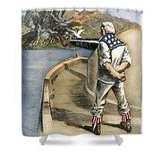 Boxer Rebellion Cartoon Shower Curtain