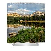 Brainard Lake Reflections Shower Curtain
