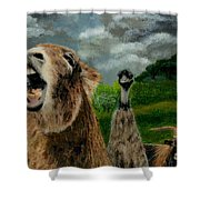 Braying Shower Curtain