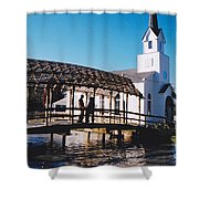 Bridge Over Water Shower Curtain