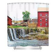 Bridgeton Mill And Covered Bridge Shower Curtain