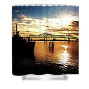 Bright Time On The River Shower Curtain