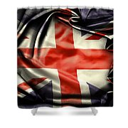 British Flag 10  Shower Curtain