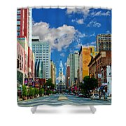 Broad Street - Avenue Of The Arts Shower Curtain